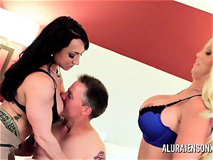 Alura Jenson mummy threesome pulverize with Brandi May