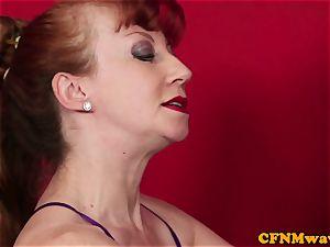 ginger-haired cfnm mature makes man burst stream