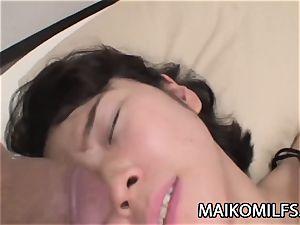 Chiharu Kogure - clean-shaven vagina Nippon mommy Creampied