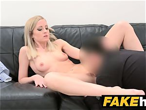 faux Agent shy blonde model luvs smoothly-shaven honeypot slurped