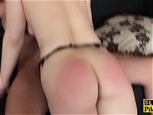 chesty british sub pussyfucked while tied
