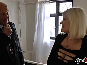 AgedLovE Lacey Starr boned hard with Sales Agent