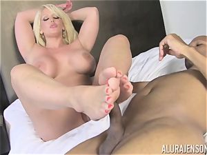 Lusty Alura Jenson tries the man sausage of her martial arts tutor