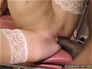 Nurse Sky Rodgers takes big black hard-on