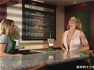 The splooge load with Krissy Lynn and Aubrey Sinclair