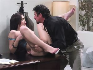Latina gets plowed like a rag in her office