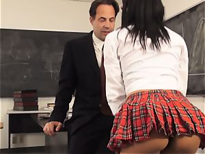 crazy student Luna starlet tempts her teacher