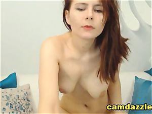 Dark brown Hair babe Gets ultra-kinky On web cam