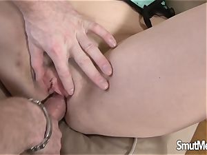 Michelle fleshy interchanges fuck stick for Real spunk-pump