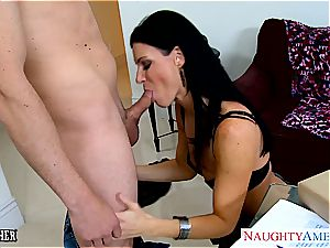 unbelievable India Summer in pantyhose fellates trouser snake