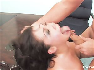 chinese hotty London Keyes gets an office pound