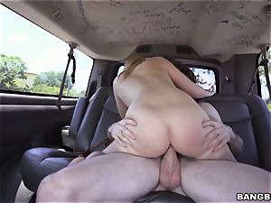 Bailey Brooke ravaged on the Bangbus