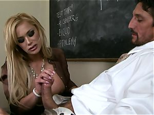 cocks throating Shyla Stylez crunches a large ginormous rock-hard man sausage with enjoyment