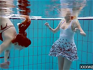 super-fucking-hot Russian nymphs swimming in the pool