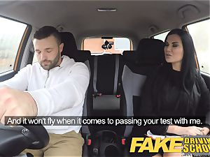 faux Driving college Jasmine Jae entirely bare bang-out in car
