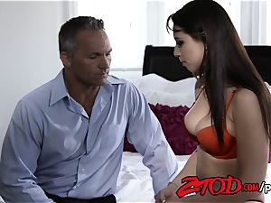 Aidra Fox and Marcus London humping on couch