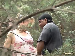 huge-chested stepmom luvs fuck-fest in nature