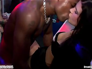 Mass porn hookup in a striptease bar