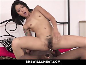 SheWillCheat - japanese wifey humps big black cock boy