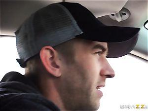 uber-sexy stepmom Syren Demer pummels her stepsons thick pink cigar
