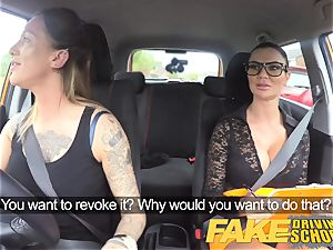 fake Driving college fresh driver gets a crash course