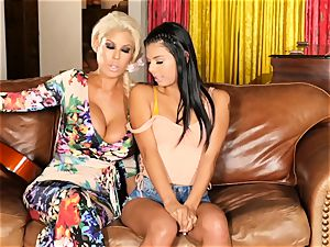Bridgette B teaches Gina Valentina a scorching lesson