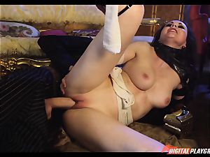 Tina kay has thick load on her mind-blowing uber-cute face from frankenstein