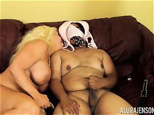 Alura Jenson gets a bit wild and starts to spank