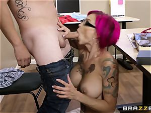 Oh my God! big-chested schoolteacher Anna Bell Peaks tempts me during lesson