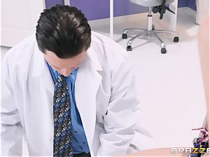 Preston Parker tears up her warm physician