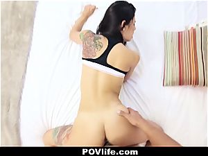 marvelous Latina Gina Valentina point of view romping