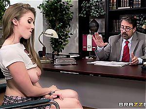 college girl Lena Paul bangs her dean