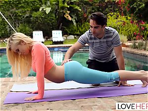 LoveHerFeet - foot idolizing Yoga Class