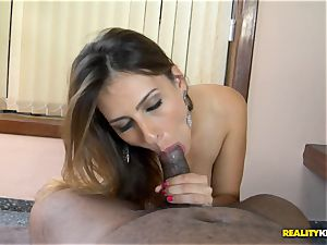Bianca Mello humped rock hard in her brazilian labia