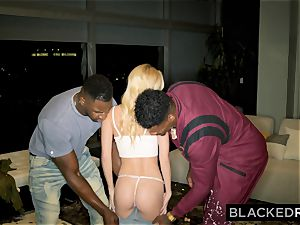 BLACKEDRAW Out Of Town nubile Gets Picked Up By 2 intense ebony studs