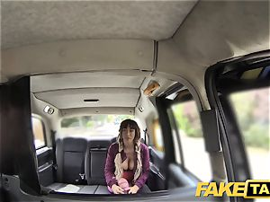 fake taxi Spanish fun bags and english ample rod