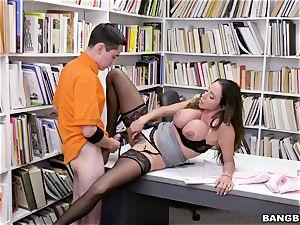 supreme mexican titties educator Ariella Ferrera entices young schoolboy