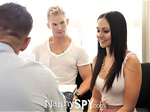 NannySpy daddy boinks Ariana Marie after caught with sonnie
