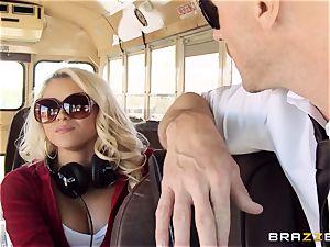 wild hitchhiker Marsha May porking super-hot bus driver