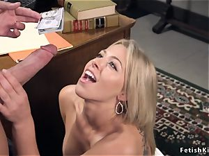 stud anal knuckles and penetrates light-haired banker
