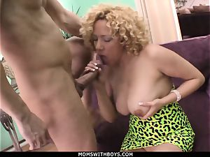 cougar Michelle stunner gigantic breasted Get cum Showered