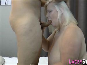 big-boobed brit granny boned