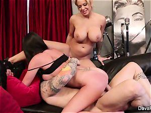 pov inhaling and fuckin' with Dava Foxx and Alyssa Lynn