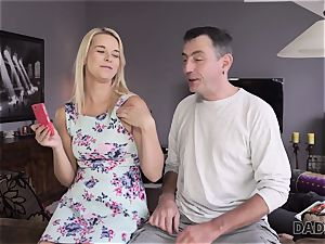 DADDY4K. dad and youthfull damsel love anal invasion romp near his sleeping sonny