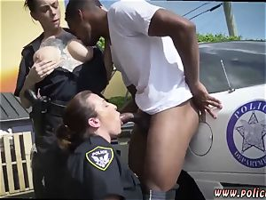 marvelous blond milf gets first-ever time I will catch any perp with a large black beef whistle, and