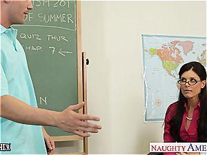 lil' boobed tutor India Summer ravage her teenage student