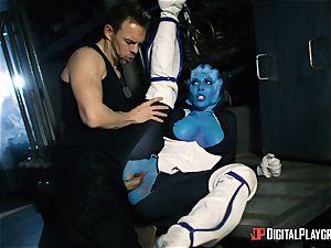 Space porno parody with super-hot alien Rachel Starr