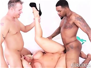 cunt inserted Alura Jenson by big black manmeat and milky fellow