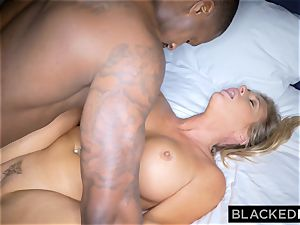 BLACKEDRAW platinum-blonde trophy wife Cucks Her hubby With big black cock