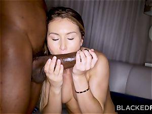 Bored mega-bitch cheats her beau with a big black cock
